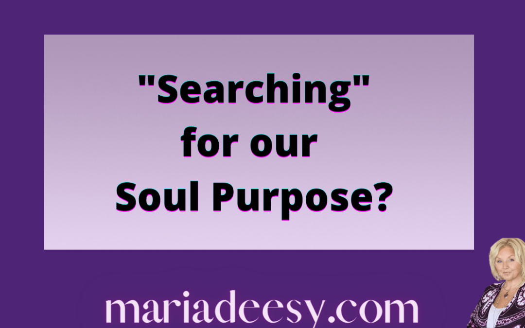 """""""Searching"""" for our Soul Purpose"""